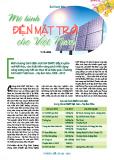 Mô hình điện mặt trời cho Việt Nam