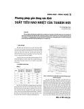Phương pháp gần đúng xác định hiệu suất tiêu hao nhiệt của tuabin hơi