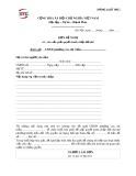 Đơn đề nghị về việc yêu cầu giải quyết tranh chấp đất đai