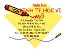 Bài giảng Kinh tế học vi mô - TS. Nguyễn Thị Thu