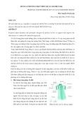 Đề xuất phương pháp thiết kế áo dài hiện đại - ThS. Nguyên Thi Luyêṇ