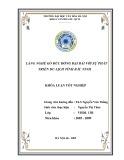 Tóm tắt Khóa luận tốt nghiệp: Làng nghề gò đúc đồng đại bái với sự phát triển du lịch tỉnh Bắc Ninh