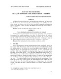 Các yếu tố ảnh hưởng đến quá trình điều chế zeolite 4a từ tro trấu