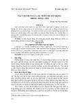 Các thành tố của sự tình chuyển động trong tiếng Anh