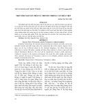 Thơ Nôm Nguyễn Trãi và truyền thống văn hóa Việt