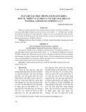 Ngữ liệu dạy học trong sách giáo khoa môn Tự nhiên và Xã hội và tài liệu Macmillan Natural and Social Science 1, 2, 3