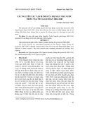 Các nguyên tắc vận hành của bộ máy nhà nước triều Nguyễn giai đoạn 1802-1840