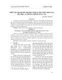 Thiết kế e-book hỗ trợ học sinh tự học phần kim loại Hóa học 12 chương trình nâng cao