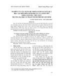 Nghiên cứu xây dựng hệ thống đánh giá kết quả học tập môn Điền kinh phổ tu của sinh viên Khoa Giáo dục Thể chất Trường Đại học Sư phạm Thành phố Hồ Chí Minh