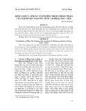 Đóng góp của Phan Văn Trường trong phong trào của người Việt Nam yêu nước tại Pháp (1912 – 1923)