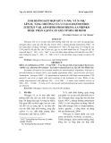 Ảnh hưởng kết hợp giữa N–No3- và N–Nh4+ lên sự tăng trưởng của vi tảo Chaetoceros subtilis var. abnormis Proschkina-Lavrenko được phân lập ở Cần Giờ, TP Hồ Chí Minh