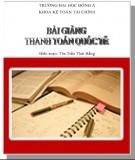 Bài giảng Thanh toán quốc tế: Phần 2 - ThS. Trần Thị Thái Hằng (ĐH Đông Á)