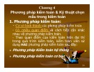 Bài giảng Lý thuyết kiểm toán: Chương 4 - TS. Lê Văn Luyện