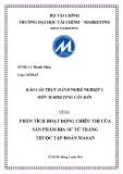 Báo cáo thực hành nghề nghiệp 1: Phân tích hoạt động chiêu thị của sản phẩm bia Sư tử trắng thuộc tập đoàn Masan - Lê Thanh Nhàn