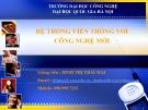 Bài giảng Hệ thống viễn thông với công nghệ mới - Đinh Thị Thái Mai