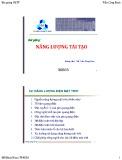 Bài giảng Năng lượng tái tạo: Chương 2 - ThS. Trần Công Binh