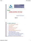 Bài giảng Năng lượng tái tạo: Chương 3 - ThS. Trần Công Binh