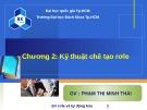 Bài giảng Bảo vệ Rơle và tự động hóa: Chương 2 - Phạm Thị Minh Thái