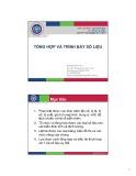 Bài giảng Tổng hợp và trình bày số liệu - Hoàng Thị Hải Vân