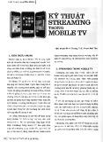 Kỹ thuật streaming trong mobile TV