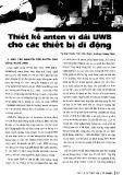 Thiết kế anten vi dải UWB cho các thiết bị di động