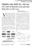 Nghiên cứu thiết kế chế tạo máy lạnh tự động bán nước giải khát bằng tiền xu Việt Nam