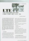 LTE công nghệ di động băng rộng cho thế hệ sau 3G