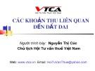 Bài giảng Các khoản thu liên quan đến đất đai - Nguyễn Thị Cúc