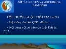 Bài giảng Tập huấn Luật Đất đai 2013