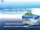 Bài giảng Lãnh đạo trong tổ chức (Leading organization) - Đỗ Tiến Long