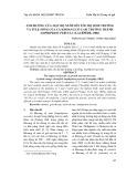 Ảnh hưởng của mật độ nuôi lên tốc độ sinh trưởng và tỉ lệ sống của cá Khoang cổ cam trưởng thành Amphiprion percula (Lacépède, 1802)