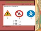 Bài giảng Câu hỏi Luật Giao thông đường bộ dùng cho lớp lái xe ôtô