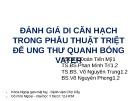 Bài thuyết trình Đánh giá di căn hạch trong phẫu thuật triệt để ung thư quanh bóng Vater