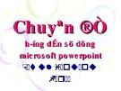 Chuyên đề Hướng dẫn sử dụng Microsoft powerpoint