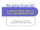 Bài giảng Cách sử dụng máu và các chế phẩm từ máu - ThS. BS. Nguyễn Thị Ngọc Thanh