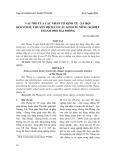 Vai trò của các nhân tố kinh tế - xã hội đối với sự chuyển dịch cơ cấu kinh tế nông nghiệp thành phố Hải Phòng