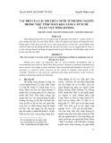 Vai trò của các hồ chứa nước ở thượng nguồn trong việc tính toán khả năng cấp nước ở lưu vực sông Hương