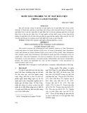 Bước đầu tìm hiểu về từ ngữ Hán Việt trong ca dao Nam Bộ