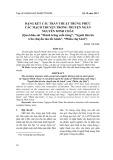 """Dạng kết cấu trần thuật trùng phức các mạch truyện trong truyện ngắn Nguyễn Minh Châu (Qua khảo sát """"Mảnh trăng cuối rừng"""", """"Người đàn bà trên chuyến tàu tốc hành"""", """"Phiên chợ Giát"""")"""