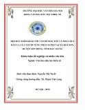 Tóm tắt Khóa luận tốt nghiệp: Hội hát Soonghao với vấn đề bảo tồn và phát huy dân ca của người Nùng Phàn Slình tại xã Quế Sơn, huyện Sơn Động, tỉnh Bắc Giang