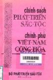 Ebook Chính sách phát triển sắc tộc của chính phủ Việt Nam cộng hòa