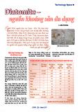 Diatomite - nguồn khoáng sản đa dụng
