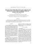 Đánh giá về quá trình điều chế và chất lượng vật liệu quang học lai vô cơ - hữu cơ (Ormosil) bằng các phương pháp quang phổ