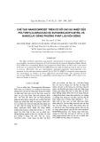 Chế tạo nanocompozit trên cơ sở cao su nhiệt dẻo polyvinylclorua/cao su butadien-acrylnitril và nanoclay bằng phương pháp hóa lưu động