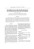 Ảnh hưởng của xử lí hóa học đến tính chất và cấu trúc sợi đay để chế tạo vật liệu Compozit