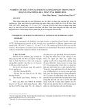 Nghiên cứu khả năng giảm hàm lượng Benzen trong phân đoạn xăng thông qua phản ứng hidro hóa