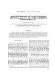 Nghiên cứu công nghệ chế tạo vật liệu xúc tác perovskit La1-xSrxMnO3 có kích thước nanomet bằng phương pháp sol-gel