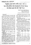 Nghiên cứu tách chiết, tinh chế và tạo chế phẩm chymopapain dược dụng từ nhựa quả đu đủ Việt Nam