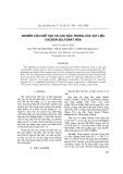 Nghiên cứu chế tạo và các đặc trưng vật liệu cacbon Sulfonat hóa