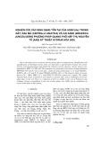 Nghiên cứu xác định dạng tồn tại của asen (As) trong đất, rau má (centella asiatica) và cải xanh (brassica juncea) bằng phương pháp quang phổ hấp thu nguyên tử (ASS) kỹ thuật hydrua hóa (Hg)